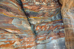 Βράχοι, Wadi Farasa, Petra Στοκ εικόνα με δικαίωμα ελεύθερης χρήσης