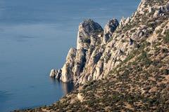 Βράχος ακτών της Κριμαίας Στοκ Εικόνες