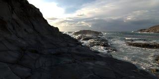 βράχος ακτών Στοκ εικόνες με δικαίωμα ελεύθερης χρήσης
