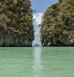 Βράχος ασβεστόλιθων στην Ταϊλάνδη Στοκ Φωτογραφίες