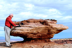 βράχος γραφείων στοκ φωτογραφία με δικαίωμα ελεύθερης χρήσης