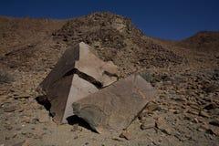 Βράχος δολομίτη, εθνικό πάρκο Richtersveld. Στοκ Εικόνες