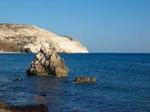 Βράχος θάλασσας κοντά στον τόπο γεννήσεως Aphrodite θεών, Στοκ φωτογραφία με δικαίωμα ελεύθερης χρήσης