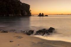 Βράχος διάσπαση-Apple στη Dawn Στοκ Εικόνες
