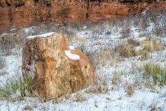 Βράχος και απότομος βράχος ψαμμίτη Στοκ Εικόνες