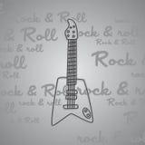 Βράχος - και - θέμα κιθάρων ρόλων Στοκ εικόνες με δικαίωμα ελεύθερης χρήσης