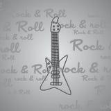 Βράχος - και - θέμα κιθάρων ρόλων Στοκ Εικόνα
