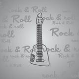 Βράχος - και - θέμα κιθάρων ρόλων Στοκ Φωτογραφίες