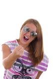 Βράχος - και - κορίτσι ρόλων Στοκ εικόνες με δικαίωμα ελεύθερης χρήσης