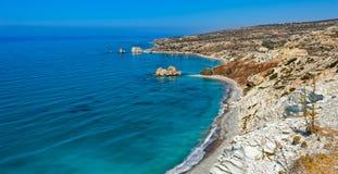 Βράχος και κόλπος Aphrodite στη Κύπρο Στοκ Εικόνες