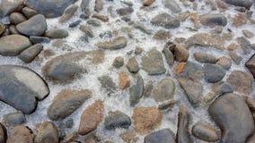 Βράχος και πάγος στο υπόβαθρο Στοκ εικόνα με δικαίωμα ελεύθερης χρήσης