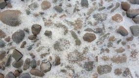 Βράχος και πάγος στο υπόβαθρο Στοκ φωτογραφία με δικαίωμα ελεύθερης χρήσης