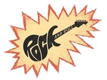 Βράχος - και - ρόλος Εγγραφή με μορφή ηλεκτρικής κιθάρας ελεύθερη απεικόνιση δικαιώματος