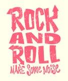 Βράχος - και - τυπωμένη ύλη ρόλων grunge, διανυσματικό γραφικό σχέδιο εγγραφή τυπωμένων υλών μπλουζών Στοκ εικόνες με δικαίωμα ελεύθερης χρήσης