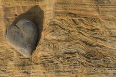 Βράχος καρδιών Στοκ φωτογραφίες με δικαίωμα ελεύθερης χρήσης
