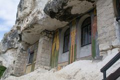 Βράχος-κομμένες εκκλησίες του Ιβάνοβο, Βουλγαρία στοκ εικόνες