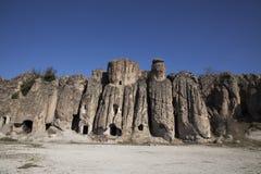 Βράχος-κομμένες εκκλησίες στοκ φωτογραφία με δικαίωμα ελεύθερης χρήσης
