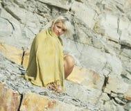 βράχος κοριτσιών Στοκ Φωτογραφία