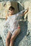 βράχος κοριτσιών Στοκ φωτογραφίες με δικαίωμα ελεύθερης χρήσης