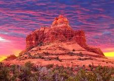 Βράχος κουδουνιών σε Sedona, Αριζόνα ΗΠΑ στοκ εικόνες με δικαίωμα ελεύθερης χρήσης