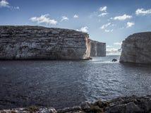 Βράχος μυκήτων στον κόλπο Dwejra Στοκ φωτογραφίες με δικαίωμα ελεύθερης χρήσης
