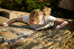 βράχος ορειβατών Στοκ Φωτογραφία