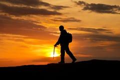 βράχος ορειβατών Στοκ φωτογραφία με δικαίωμα ελεύθερης χρήσης