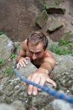 βράχος ορειβατών Στοκ φωτογραφίες με δικαίωμα ελεύθερης χρήσης