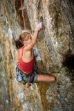 βράχος ορειβατών Στοκ εικόνα με δικαίωμα ελεύθερης χρήσης