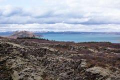 Βράχος που καλύπτεται ηφαιστειακός στο βρύο στην επαρχία Στοκ Εικόνα