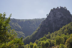 Βράχος προσευχή-Roccaporena στοκ φωτογραφία