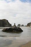 Βράχος προσώπου σε Bandon, Όρεγκον, ΗΠΑ Στοκ Εικόνα