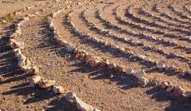 βράχος προτύπων κύκλων Στοκ Εικόνες