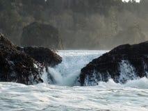 Βράχος πλυσίματος pourover Στοκ φωτογραφία με δικαίωμα ελεύθερης χρήσης
