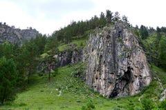 Βράχος στα βουνά Altai Στοκ φωτογραφία με δικαίωμα ελεύθερης χρήσης