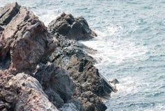 Βράχος στην παραλία Στοκ εικόνες με δικαίωμα ελεύθερης χρήσης