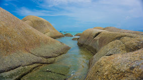 Βράχος στην παραλία Στοκ Φωτογραφία