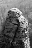 Βράχος στη σαξονική Ελβετία, Γερμανία Στοκ Εικόνες