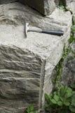 Βράχος στο γεωλογικό ίχνος Salthill, Clitheroe Στοκ Φωτογραφία