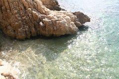 Βράχος στο ύδωρ Στοκ εικόνα με δικαίωμα ελεύθερης χρήσης