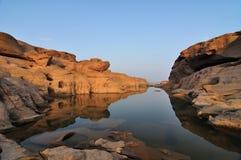 βράχος Ταϊλάνδη ratchathani θαύματο&sig Στοκ Φωτογραφίες