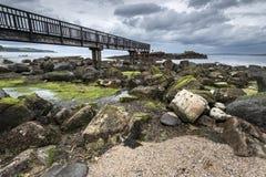 Βράχος τηγανιού, Ballycastle, Antrim ακτή Στοκ φωτογραφία με δικαίωμα ελεύθερης χρήσης