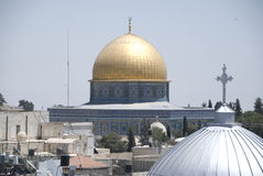 βράχος της Ιερουσαλήμ θόλων Στοκ Εικόνες