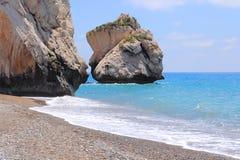 Βράχος της Κύπρου Aphrodite Στοκ Φωτογραφίες