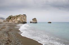Βράχος της παραλίας Aphrodite, Πάφος Στοκ Φωτογραφίες