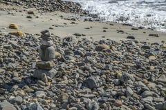 Βράχος της Zen στην παραλία Cabrillo Στοκ Φωτογραφίες