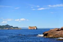 Βράχος του Καναδά Κεμπέκ Gaspe Perce Στοκ εικόνα με δικαίωμα ελεύθερης χρήσης