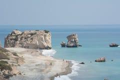 Βράχος Aphrodite, Πάφος, Κύπρος Στοκ φωτογραφίες με δικαίωμα ελεύθερης χρήσης