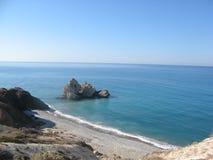 Βράχος Aphrodite, Πάφος, Κύπρος Στοκ Φωτογραφίες