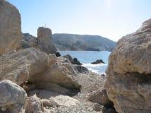 Βράχος Aphrodite, Πάφος, Κύπρος Στοκ φωτογραφία με δικαίωμα ελεύθερης χρήσης